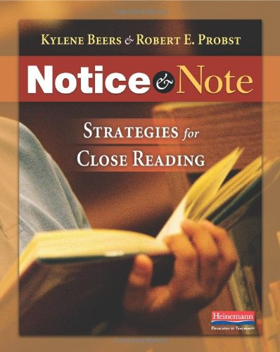 Note Book Reading (Notice & Note: Strategies for Close Reading)