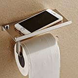 Wall Mounted Bathroom Toilet Paper Holder Rack Tissue Roll Stand Stainless Steel with Moblie Phone Holder Stand (HG0051)
