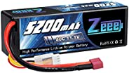 Zeee 11.1V Lipo Battery 3S 80C 5200mAh Battery Hard Case with Deans Plug for RC Car Boat Truck Tank Racing Mod