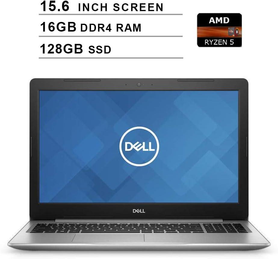 2020 Premium Dell Inspiron 15 5000?15.6 Inch HD Laptop (AMD Ryzen 5 2500U up to 3.6 GHz, 16GB RAM, 128GB SSD, WiFi, Bluetooth, HDMI, Windows 10 Home,?Platinum Silver)