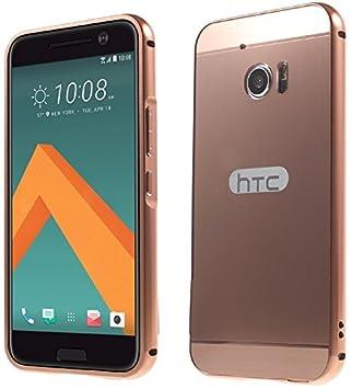 htc 10 case gold. htc 10 phone aluminum metal bumper case [rose gold] pink hard back cover+ htc gold