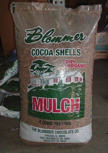 National Cocoa Shell BLCH001 Blommer Cocoa Shell Mulch, 2 Cubic Feet