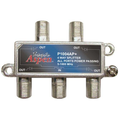 EAGLE ASPEN 500304 1, 000MHz Splitter (4 Way) Home Audio Crossover, Silver