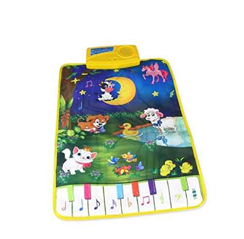 Singleluci,Hot Kids Baby Zoo Animal Musical Touch Play Singing Carpet Mat Toy