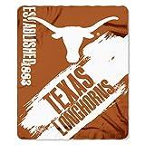 """NCAA Texas Longhorns Painted Printed Fleece Throw Blanket, 50"""" x 60"""", Burnt Orange"""