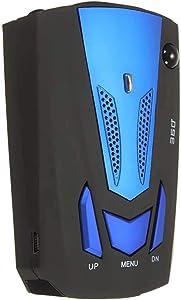 KIMIBen Dash Cam 360° Car Camera Blue V7 Testing System Cobra 16 Band 360° Laser Radar Detector Voice Alerts (Color : Blue, Size : One Size)