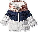 Osh Kosh Baby Girls Perfect Colorblocked Heavyweight Jacket Coat, Rose Gold/Deep Night/Grey, 12M