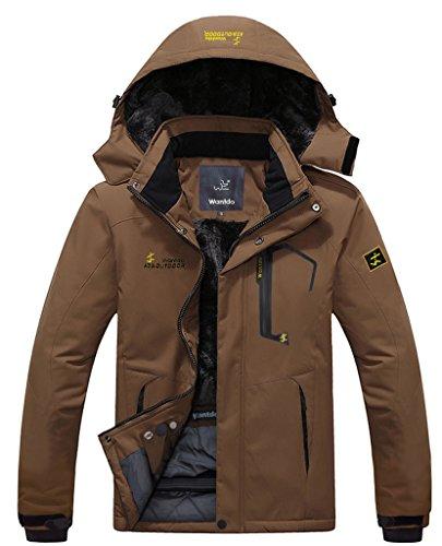 Wantdo Men's Waterproof Mountain Jacket Fleece Windproof Ski Jacket(US M)