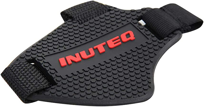 PerGrate Motorcycle Shoes Protective Equipment Pad Motorcycle Shift Lever Shoe Boots Protector Cover red