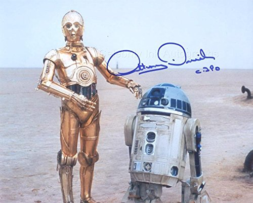 ANTHONY DANIELS as C-3PO - Star Wars GENUINE AUTOGRAPH