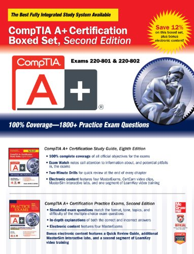 (CompTIA A+ Certification Boxed Set, Second Edition (Exams 220-801 & 220-802) (Certification Press))