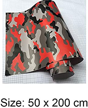 Color Name: Green, Size: 10cmx152cm 4colors Digital Camouflage Printed Wrapping Motorcycle Scooter Sticker Wrap Car DIY Styling Camo Film Sheet 50cm