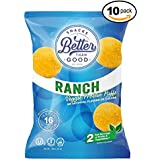 Besser Than Good Snacks - Ranch Veggie Protein Puffs 16g Protein - 2 Serving of Fruits & Veggies, Low Carb, Low Sugar, 110 Calories Keto Friendly, Healthy Diabetic Snack