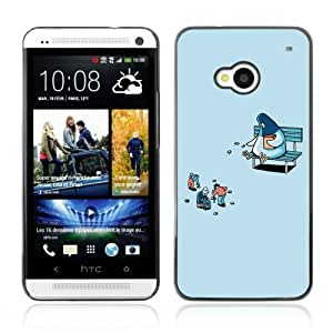 Designer Depo Hard Protection Case for HTC One M7 / Pigeon Feeding Humans