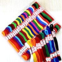 Lovely Arts Collection Hand Embroidered Cotton Thread Skeins for Craft Projects, Multicolour (Pack of 25) -LAC97