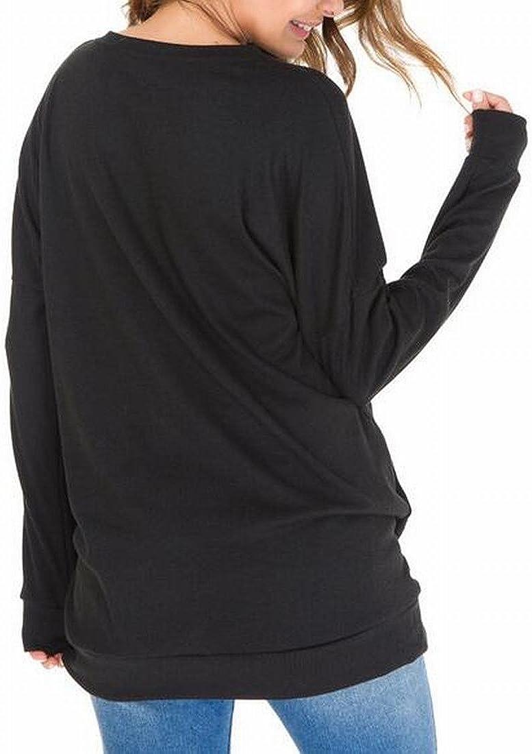 M/&S/&W Womens Casual Long Sleeve Round Neck Sweatshirt Tunics Blouses Tops