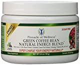 Pinnacle of Wellness Natural Green Energy Powder – Grape Flavor – 30 Servings – 5.4oz (150g) – With Pure Green Coffee Bean Extract 800mg – Green Tea Leaf – Asian Ginseng Root & Guaraná Seed – Vitamin C – B6 & B12 – Sugar Free Drink Mix