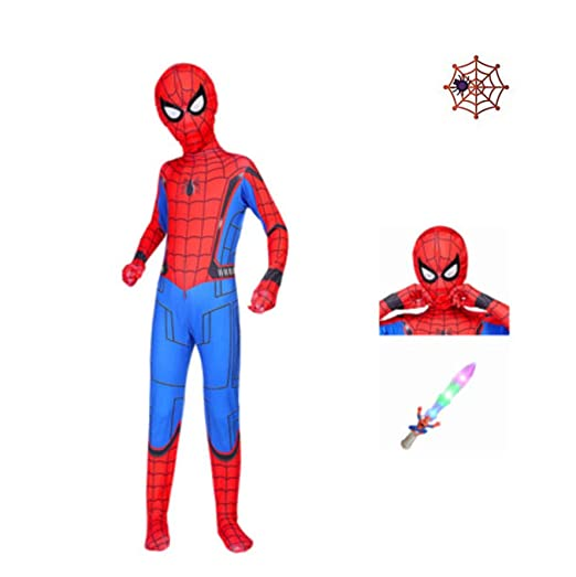 Niño Spiderman Disfraz Halloween Carnaval Cosplay Traje De Fiesta ...