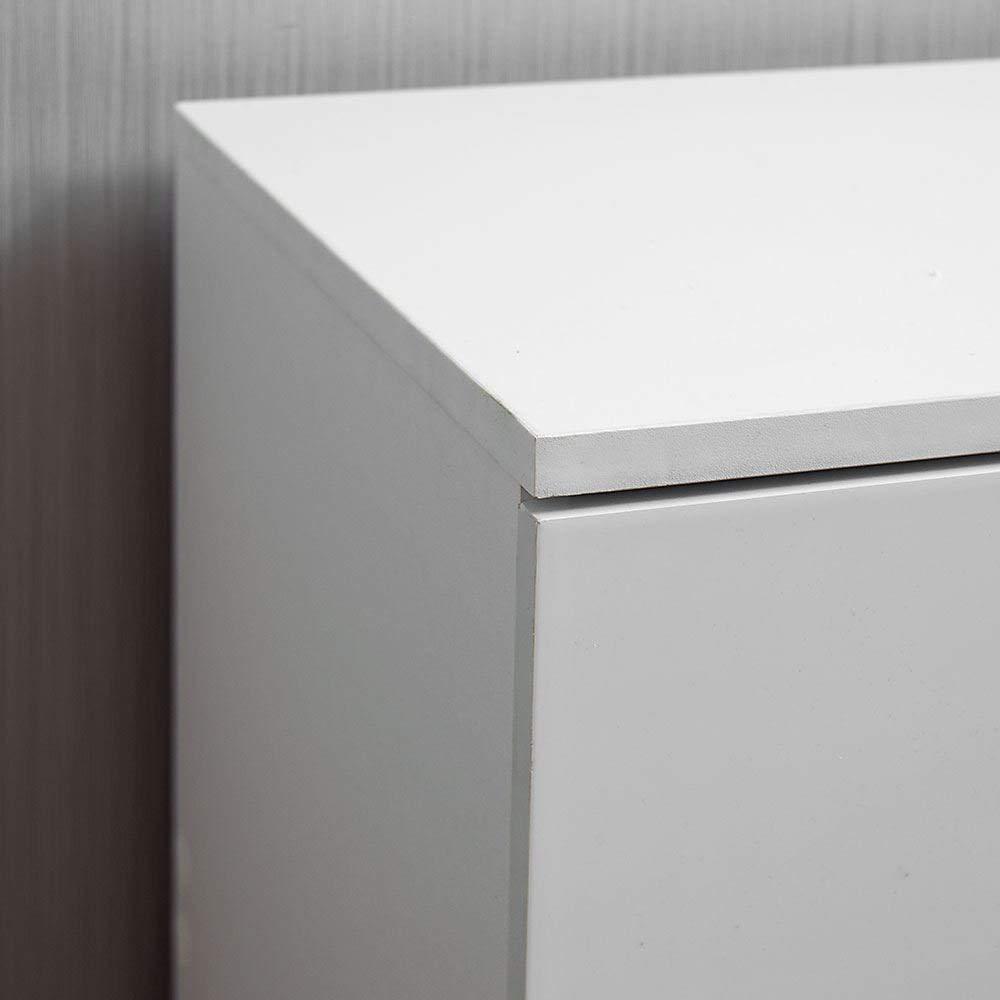 Meubles de Chambre /à Coucher Home Discount Hulio High Gloss Commode Blanc 4/tiroirs avec poign/ées en m/étal et Coureurs Unique Anti-Bowing tiroir Support