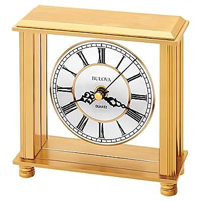 """Bulova B1703 Cheryl Table Clock, Brass - Country Of Origin: China Model Number: B1703 Item Package Dimensions: 3.0"""" L x 7.0"""" W x 7.0"""" H - clocks, bedroom-decor, bedroom - 51rajeRab1L. SS400  -"""
