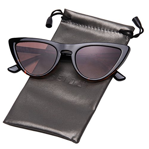 FEIDU Modern Polarized Sunglasses for Women Retro shades Cat-eye Glasses FD 9016 (Brown/Leopard, - Newest For Sunglasses Men