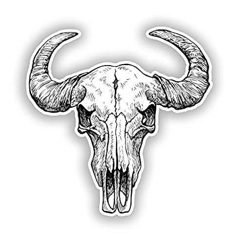 Animal Skull Vinyl Stickers Scary Horror Halloween Creepy - Sticker Graphic - Sticks to Any Smooth Surface - Cars, Walls, Cellphones, Laptops, -