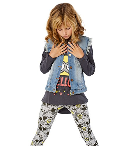 Collection Me Despicable Minions Leggings Chicas Gris 2016 Gris CXPq5ww