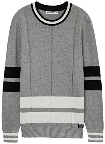 meters-bonwe-mens-fashion-color-block-round-neck-pullover-knitted-sweater-grey-m