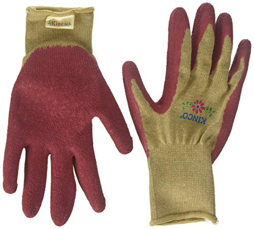 Kinco 035117017924 Knit Garden Glove with Pink Dipped Latex Palm, Medium, Single Pair