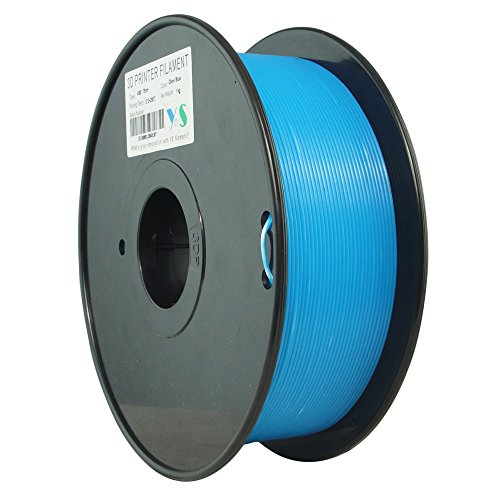 YS YS-ABS-GE-1.75-1.0  ABS Filament,  Compatible with Makerbot/UP/Afinia/Robo 3D printer,  1.75 mm 1kg, Glow In The Dark Blue