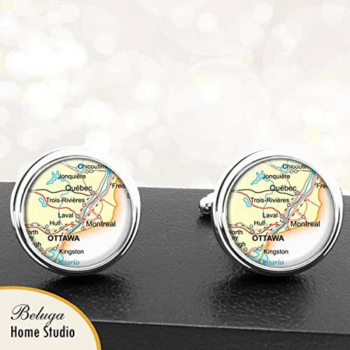Wedding Party Gifts Canada: Amazon.com: Map Cufflinks Quebec Montreal Canada Maps