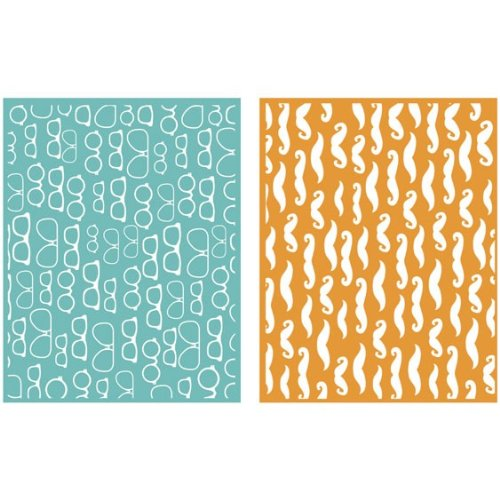 QUICKUTZ Lifestyle Crafts Fellow 2-Pack Embossing Folder for Scrapbooking