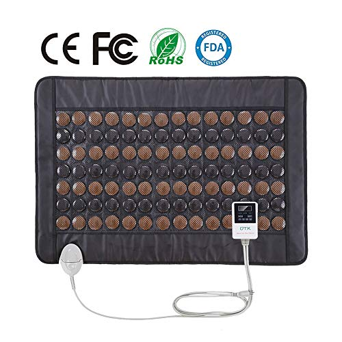 UTK Far Infrared Tourmaline Heating Pad for Back Pain Relief - Infrared Therapy Heating Pads - Medium T-Pro (31' X 21'), Auto Shut Off and Travel Bag Included