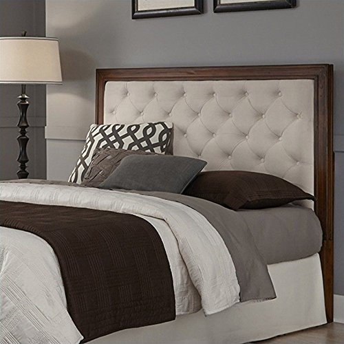 Home Styles Duet Tufted Diamond Panel Headboard Microfiber, King/California King, - Headboard Oyster