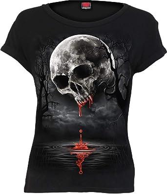 Spiral Direct SKULL SHOULDER WRAP Allover Longsleeve T-Shirt//Tribal//Rock//Top
