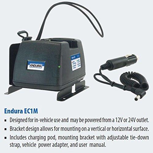 Endura Quad-Chemistry Li-Ion/Li-Po/NIMH/Ni/CD 12-24 VDC Mobile Charger for Harris Radios. Fits: Harris P5400 / P5500 / 7300 Series & XG-15P / XG-25P / XG-75P