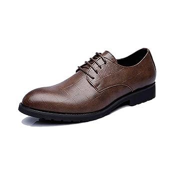 HhGold Zapatos de Cuero de la PU de 2018 para Hombres Zapatos clásicos con Cordones Mocasines ...