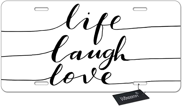 WONDERTIFY License Plate Be Kind Be Brave Inspirational Quote and Arrow Decorative Car Front License Plate,Vanity Tag,Metal Car Plate,Aluminum Novelty License Plate,6 X 12 Inch 4 Holes