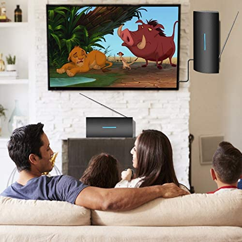 TV Antenna, Amplified Indoor Outdoor Digital HDTV Antenna, 250+ Miles Long Range Amplified Signal Booster Support Fire Stick and All Television, 4K 1080P HD Antenna for Local Channels -34ft Coax Cable