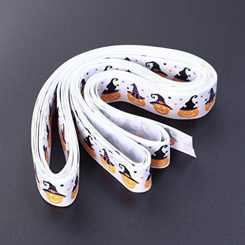 Healifty リボン ハロウィン ギフト グログリンリボン ラッピングヘアボウ(ホワイト)
