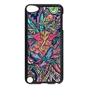 Funny Trippy Elephant Protective Hard PC Back Fits Cover Case for iPod Touch 5, 5G (5th Generation)