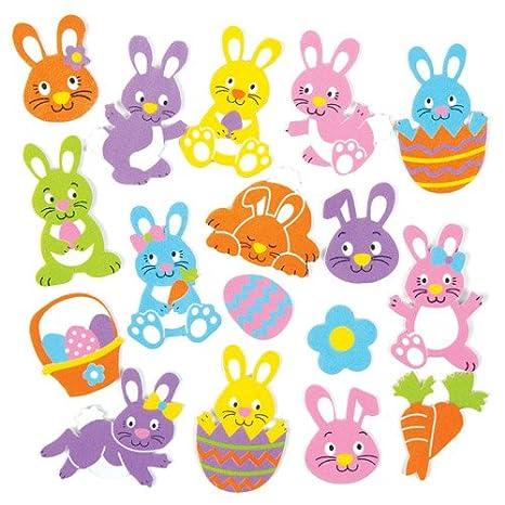 Baker Ross Adesivi Con Coniglietti Di Pasqua Per Bambini Ideali Per
