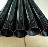 Firgelli Automations 3K Roll-wrapped Carbon Fibre Round Tube - Plain Weaving / OD: 11~30mm - OD: 30mm / ID: 28mm