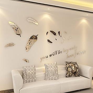 Loterong 3d Dreidimensionale Wandaufklebern Gepragte Acryl Spiegel