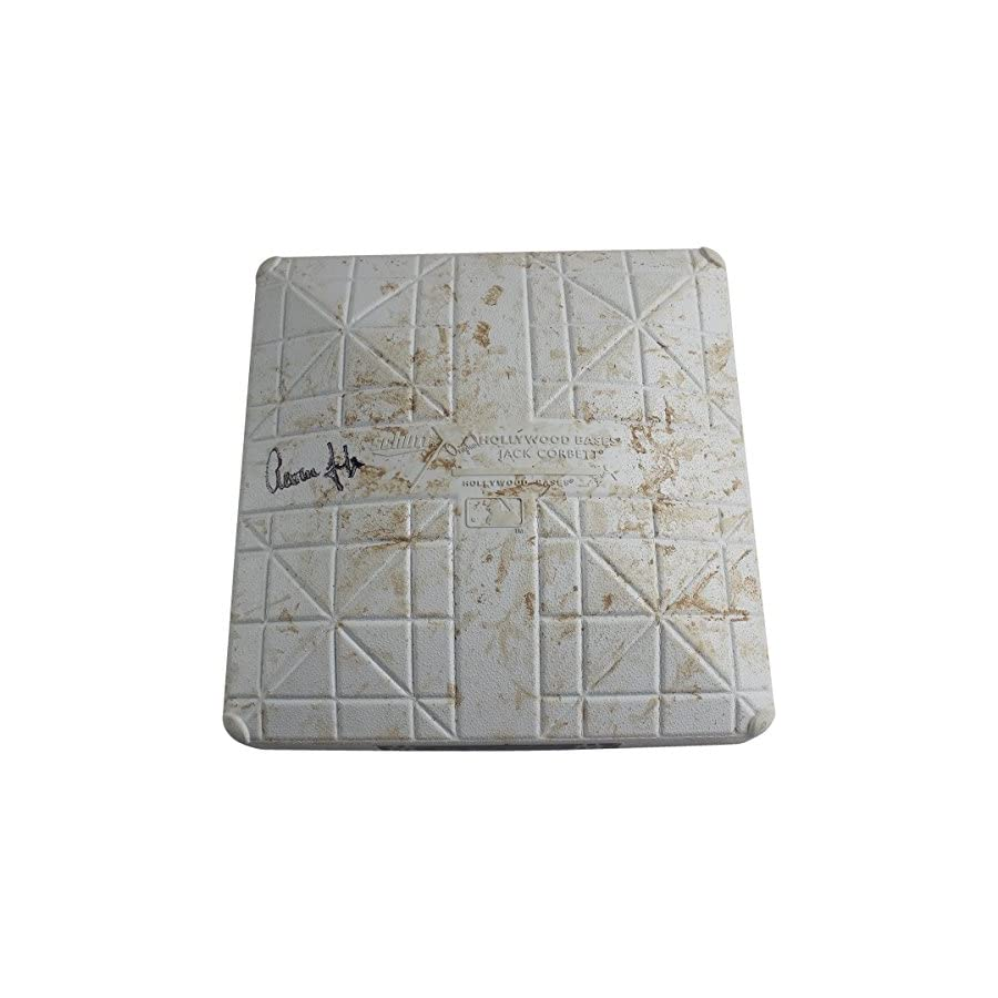 Aaron Judge Signed Brewers at Yankees 7 7 2017 Game Used Third Base (Innings 3 5)(JC357270)(SSM/Fanatics Holo)