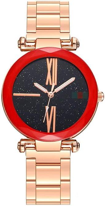 Reloj para Mujer Pulsera Reloj Banda de Acero Reloj Mujer Espejo ...