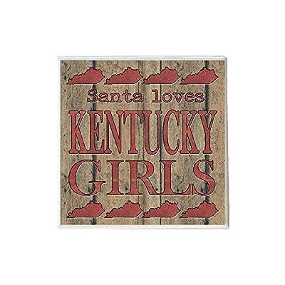 Santa Loves Kentucky Girls in Red Coaster