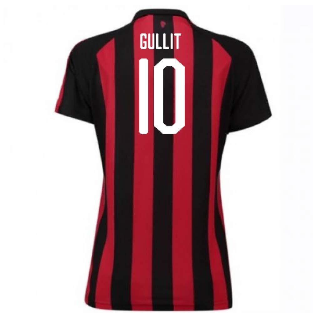 2018-2019 AC Milan Puma Home Damenschuhe Football Soccer T-Shirt Trikot (Ruud Gullit 10)