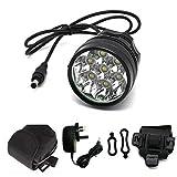 7x Cree Xm-l T6 MTB 10000lumen Mountain Bike Bicycle Cycling Head Light Headlamp+charger
