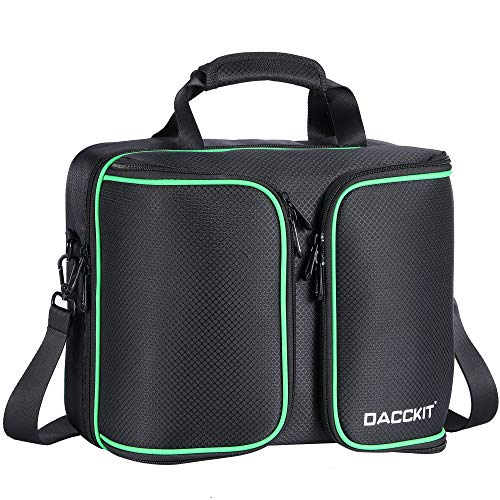 D DACCKIT Travel Carrying Case Compatible with Xbox One X/Xbox One S Console and Accessories - Fit Game Console, 2x Wireless Controllers, Games, Headsets, Power Cables and More (Xbox One S Box Weight And Dimensions)